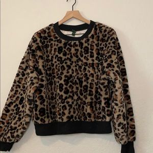 Leopard Print Sweater Top